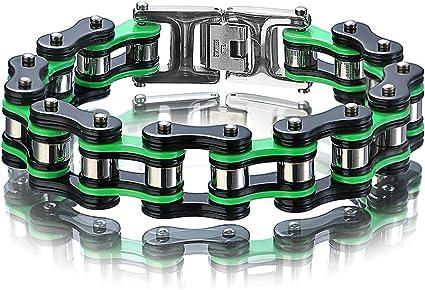 Bracelets en acier inoxydable de vélo de cycliste d/'hommes de moto PO