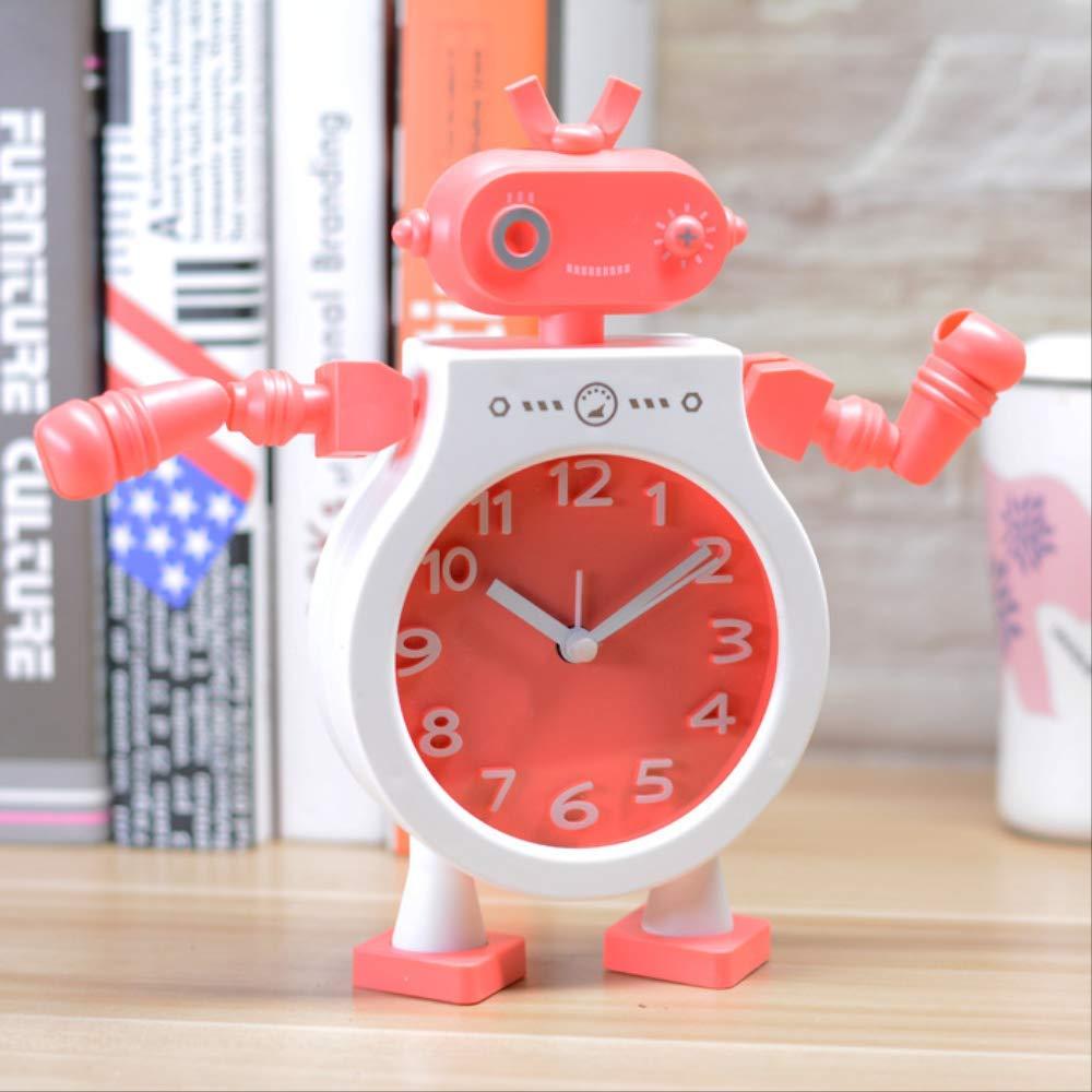 QRUPAF Los Estudiantes de Despertador Robot de configuración Creativa Linda despiertan el Reloj 2: Amazon.es: Hogar