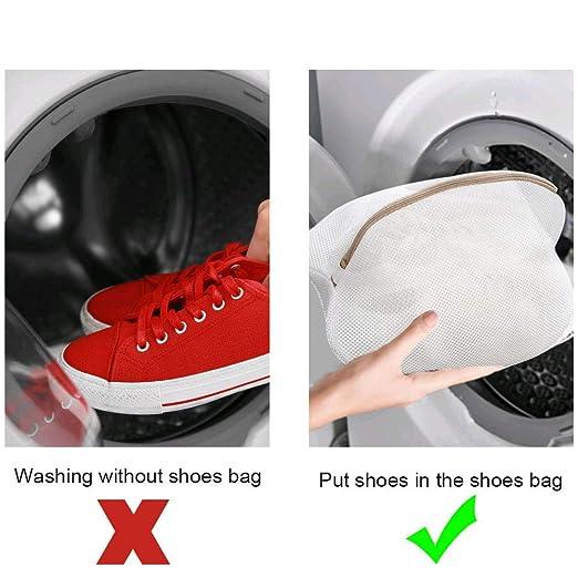 NAHUAA Bolsa de Lavadora para Zapatos 2pcs Premium de Malla de ...