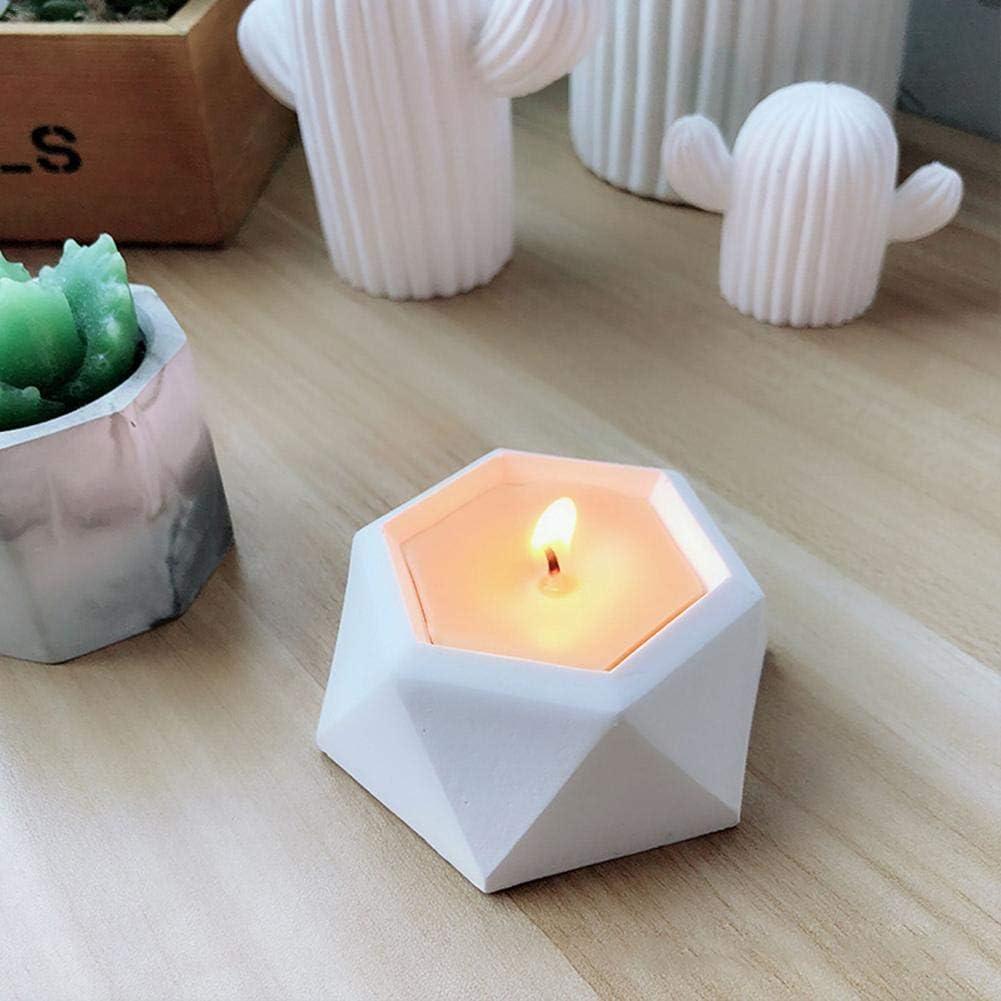 Diamond Succulent Plant Flower Pot Silicone Mold Gypsum Cement Bonsai DIY Mould