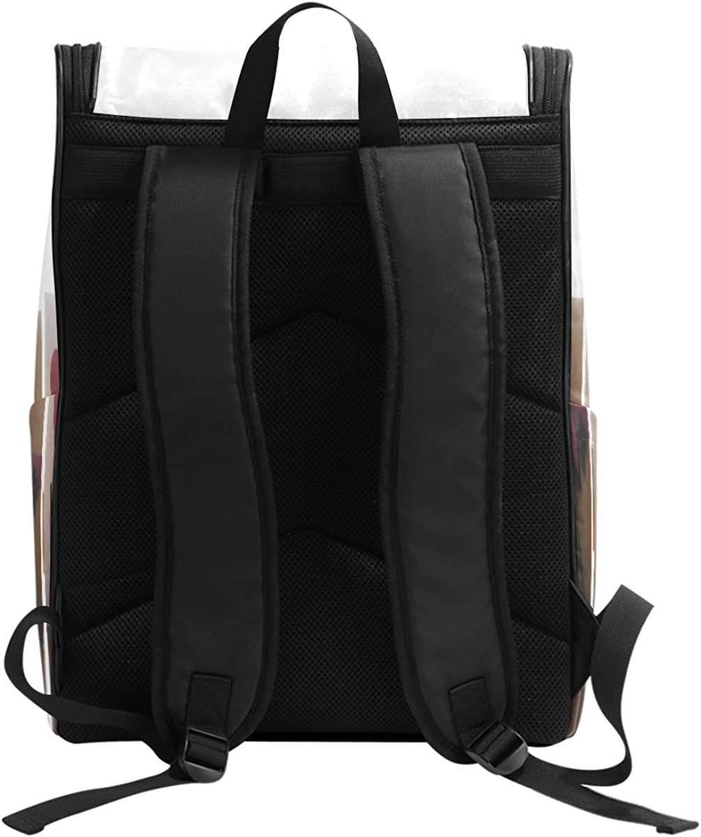 Durable School Bag Laptop Backpack Travel Large Capacity Camping Daypack Champagne Love