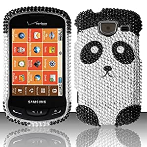 For Samsung Brightside U380 (Verizon) Full Diamond Design Cover - Panda Bear FPD