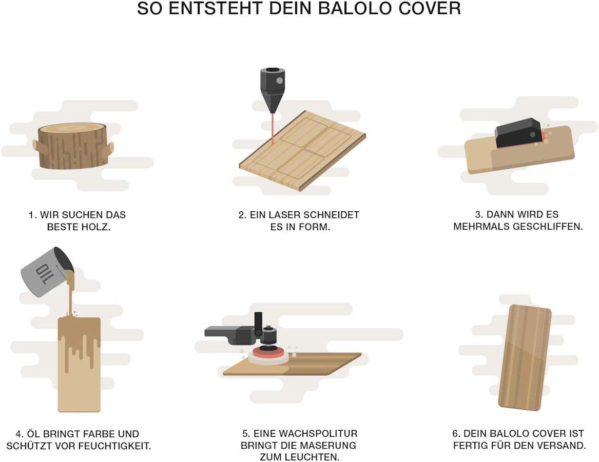 100/% Handmade in Germany balolo/® Walnuss Echtholz-Cover f/ür Bose SoundTouch 30 100/% amerikanisches Walnuss-Holz Zubeh/ör Design Case Cover Skin Schutz-H/ülle