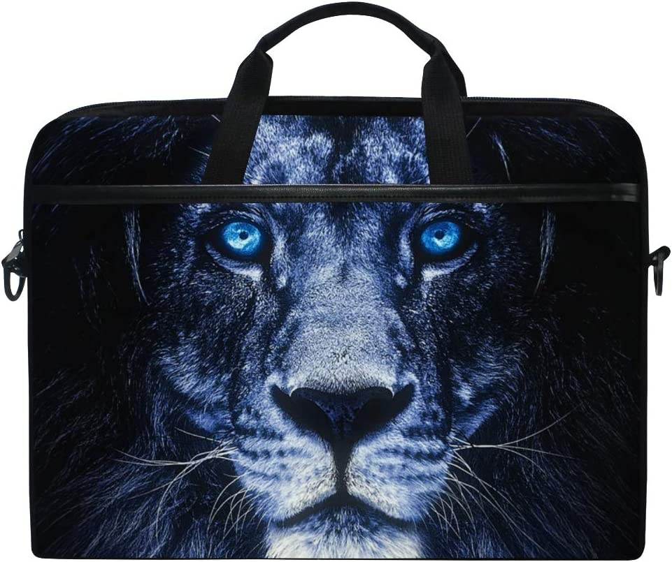 ALAZA Portrait of Lion Animal Print Laptop Case Bag Sleeve Portable Crossbody Messenger Briefcase Convertible w/Strap Pocket for MacBook Air Pro Surface Dell ASUS hp Le