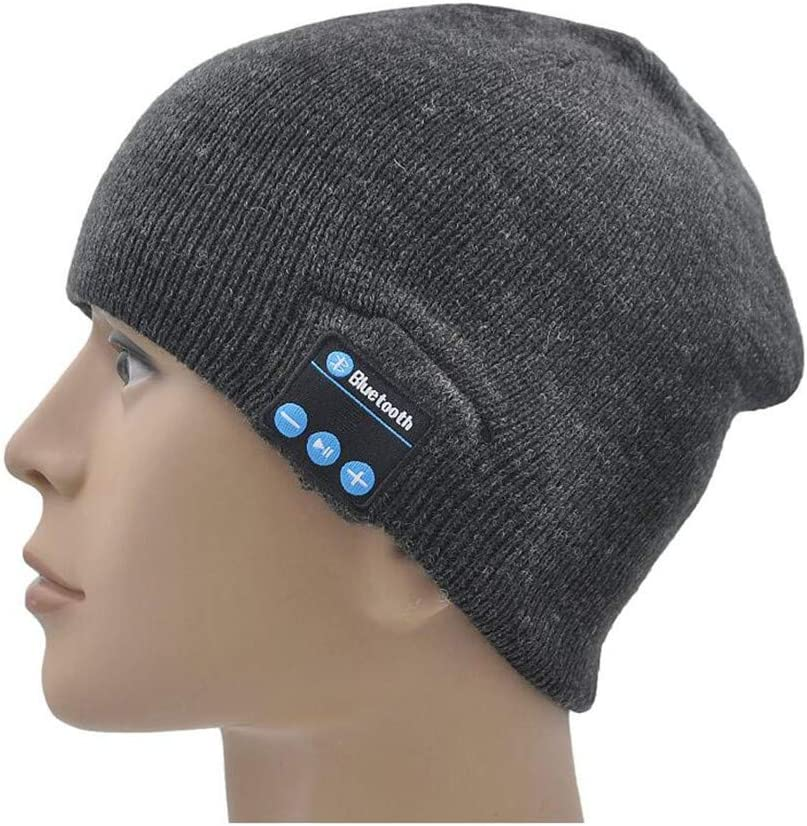 Knit Winter Music Beanie Hat Wireless Beanie Cap Perfect Gift for Family Permotary Bluetooth Beanie Hat Built-in HD Stereo Speakers Heather Gray Friends /& Teenagers