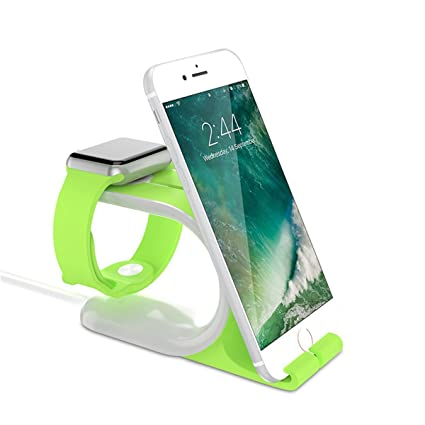 Kinnara Apple Watch Stand and iPhone Stand, 2-in-1 Apple Watch Smart Watch Charging Docks, Charging Stand Holder for All iWatch & iPhone & iPad ...