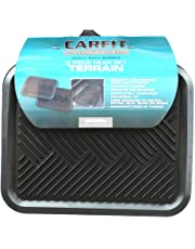 Carfit 4560281 Terrain Rubber Rear Car Floor Mat 2 Piece Set, Black, Set of 2