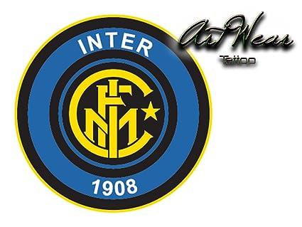 Tatuaje Temporal Equipe fútbol - Italia intaire de Milán - artwear ...