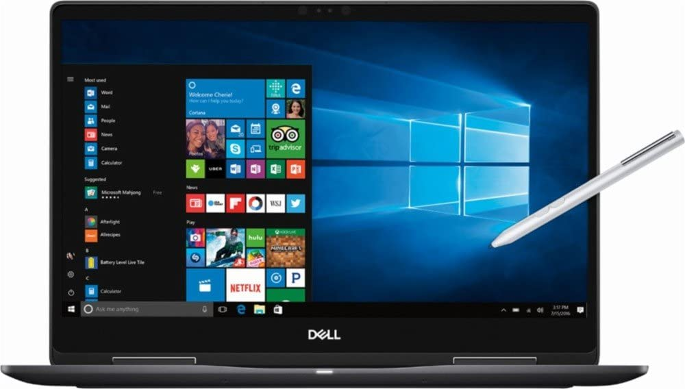 "Dell - 2-in-1 15.6"" 4K Ultra HD Touch-Screen Laptop - Intel Core i7 - 16GB Memory - NVIDIA GeForce MX130 - 512GB SSD - Abyss Black"