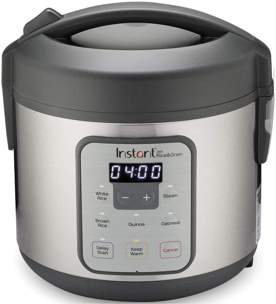 Instant Zest 8 Cup Rice Cooker, Steamer, Cooks Rice, Grains, Quinoa and Oatmeal, No Pressure Cooking Functionality