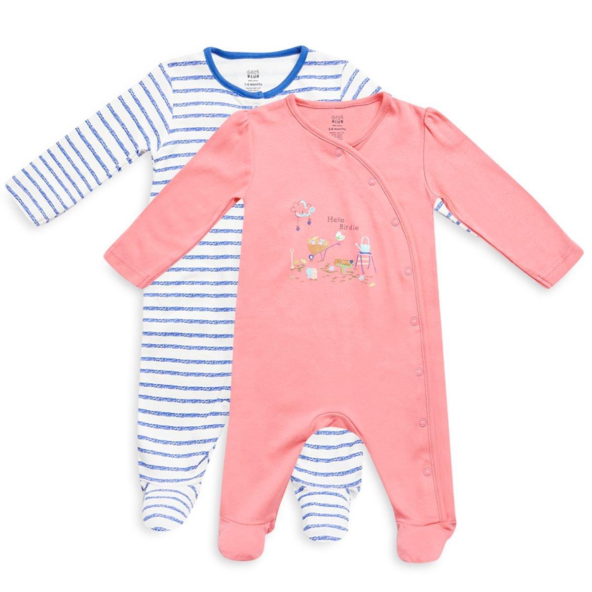 72330c793419 Mini Klub Boys Pack of 2 Sleepsuit with Full Sleeves  Amazon.in ...