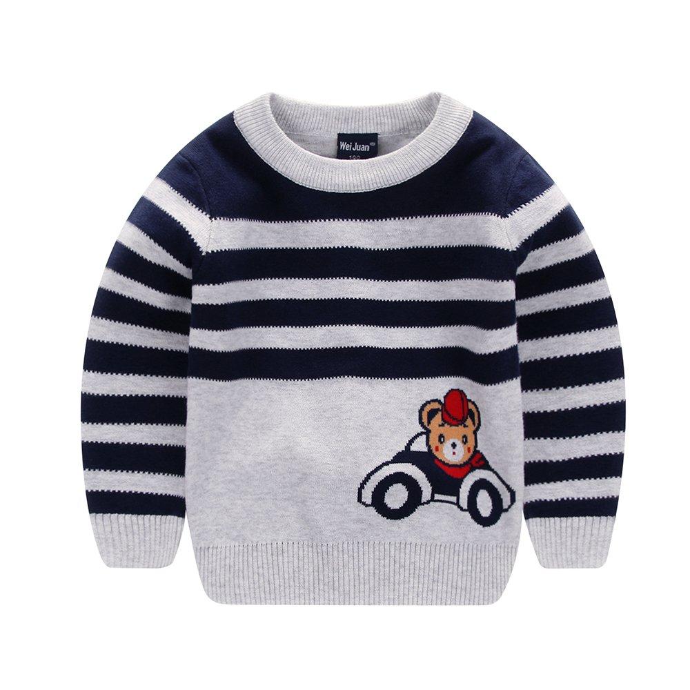HOYMN Boys' Multi Stripe Sweater