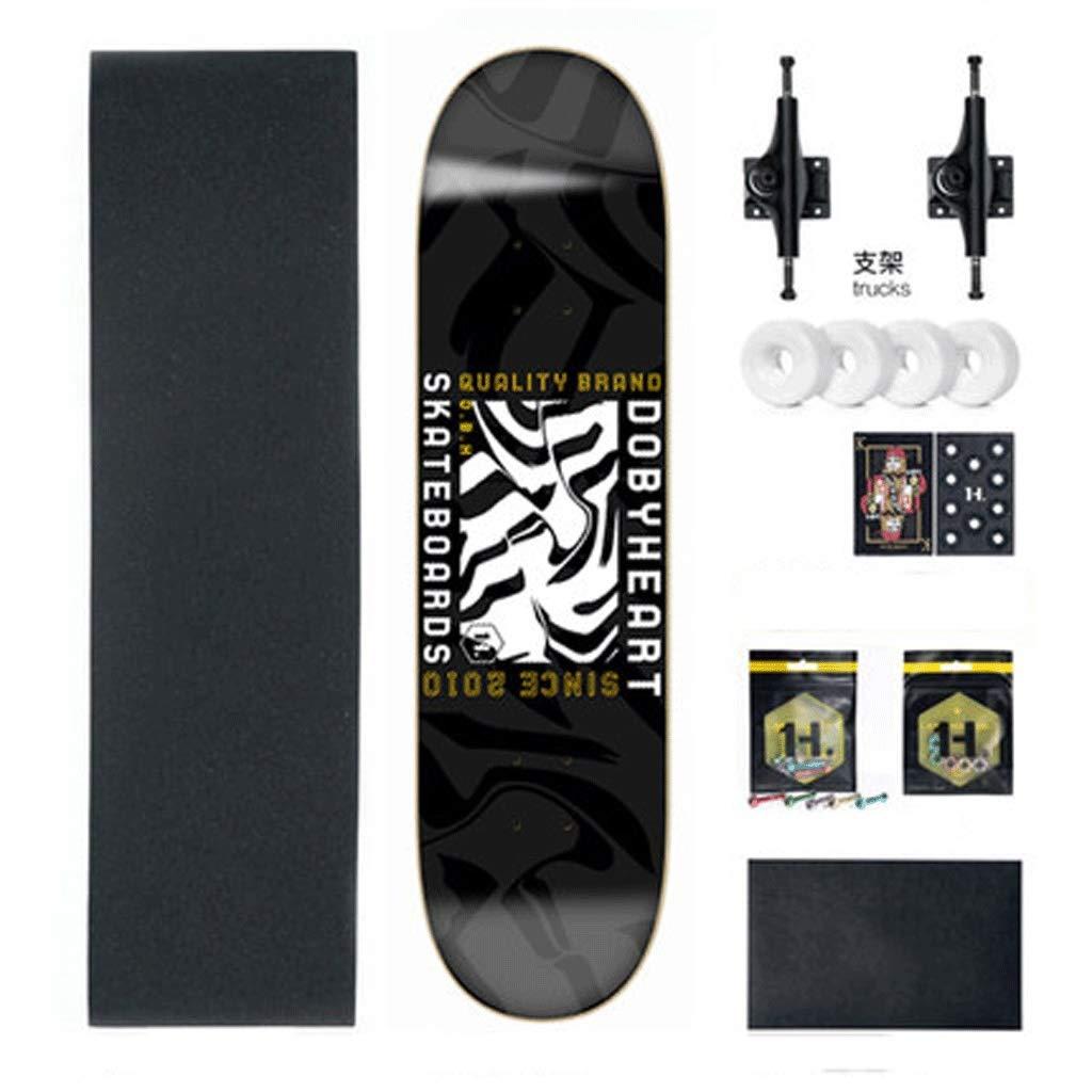 独特の上品 初心者の男の子と女の子大人の子供スケートボードショートボード両側傾斜ボード (色 : Black strips strips) B07L3QMZN2 Black Black : strips, イタミシ:b52f870d --- a0267596.xsph.ru