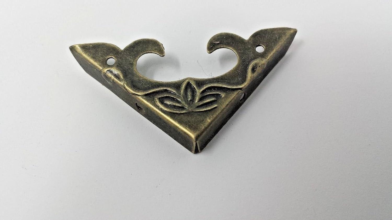 Pk of 4 Metal case corners antique bronze finish 30mm over straight C118 Celtic Woods