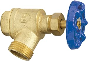 Homewerks VGRBNOB5B VGR-BNO-B5B Garden Valve Bent Nose, Female Thread, 1-Inch, Brass