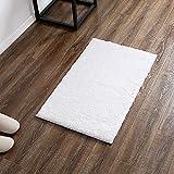 Cheap LEEVAN Contemporary Plush Area Rug Door Mat Super-Soft Microfiber Non-slip Rubber Backing Shaggy Rectangle Rugs Floor Mat Shag Rug (2 ft x 3 ft, White)