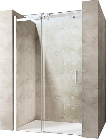 durovin baño moderno elegante transparente puerta corrediza de cristal de 8 mm de grosor para ducha