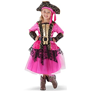 Teetot Princess Factory Girlu0027s Pirate Pink Princess Costume with Hat and Belt Size ...  sc 1 st  Amazon.com & Amazon.com: Teetot Princess Factory Girlu0027s Pirate Pink Princess ...