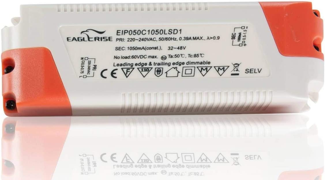 Led Trafo 34 50w 1050ma Dc 32 48v Ip20 Triac Dimmbar Beleuchtung