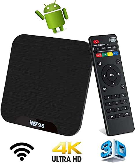 TV Box Android 7.1 - VIDEN W2 Smart TV Box Amlogic S905X Quad Core, 2GB RAM & 16GB ROM, 4K*2K UHD H.265, HDMI, USB*2, WiFi Media Player, Android Set-Top Box [Versión Mejorada]: