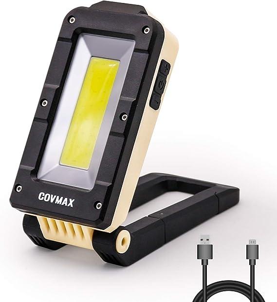 2 PK COB LED Work Lights USB Rechargeable Magnetic Base 360 Rotate Hook Foldable