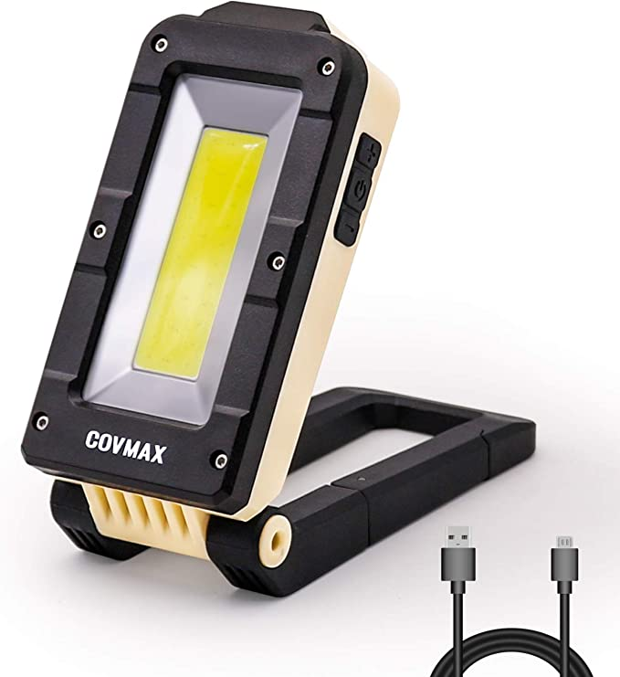 1*COB LED lamp USB Rechargeable Built in Battery LED Light  with Magnet Portable