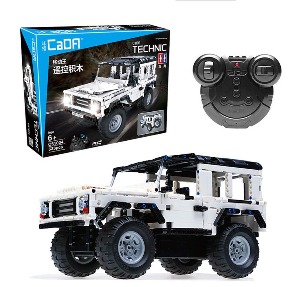 LVYE1 Building Block Remote Control Car Remote Control Car SUV Toy Car Model Puzzle Assembling DIY USB Charging Building Block Assembly Car