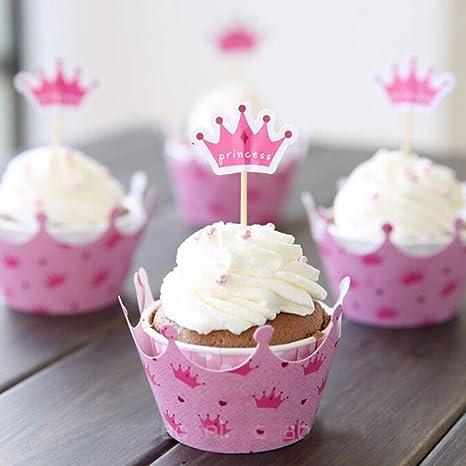 Decoracion Baby Shower Nina De Princesa.Dgdj 12 Piezas Corona De Princesa Decoracion De Cupcakes Y