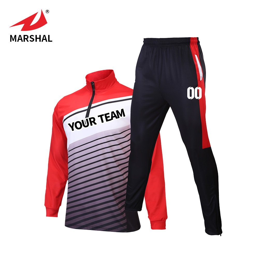 Marshal Jersey OUTERWEAR メンズ B075VS4S6X Small|レッド レッド Small