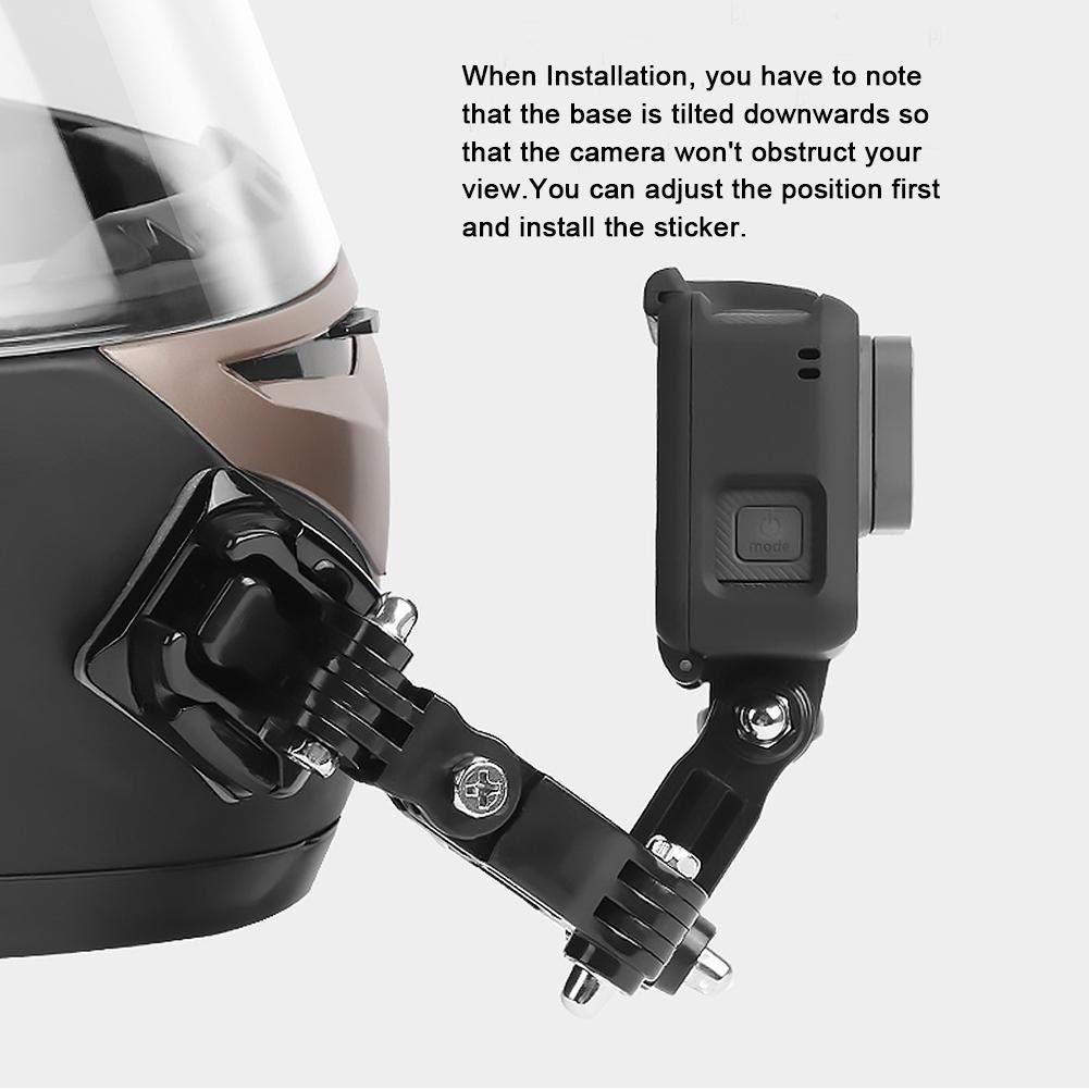 Nrkin Pegajoso Casco Integral Casco para Motocicleta Soporte de Barbilla Frontal con Almohadillas Adhesivas Almohadillas pegajosas para GoPro Hero 6//5 C/ámara de pel/ícula de acci/ón