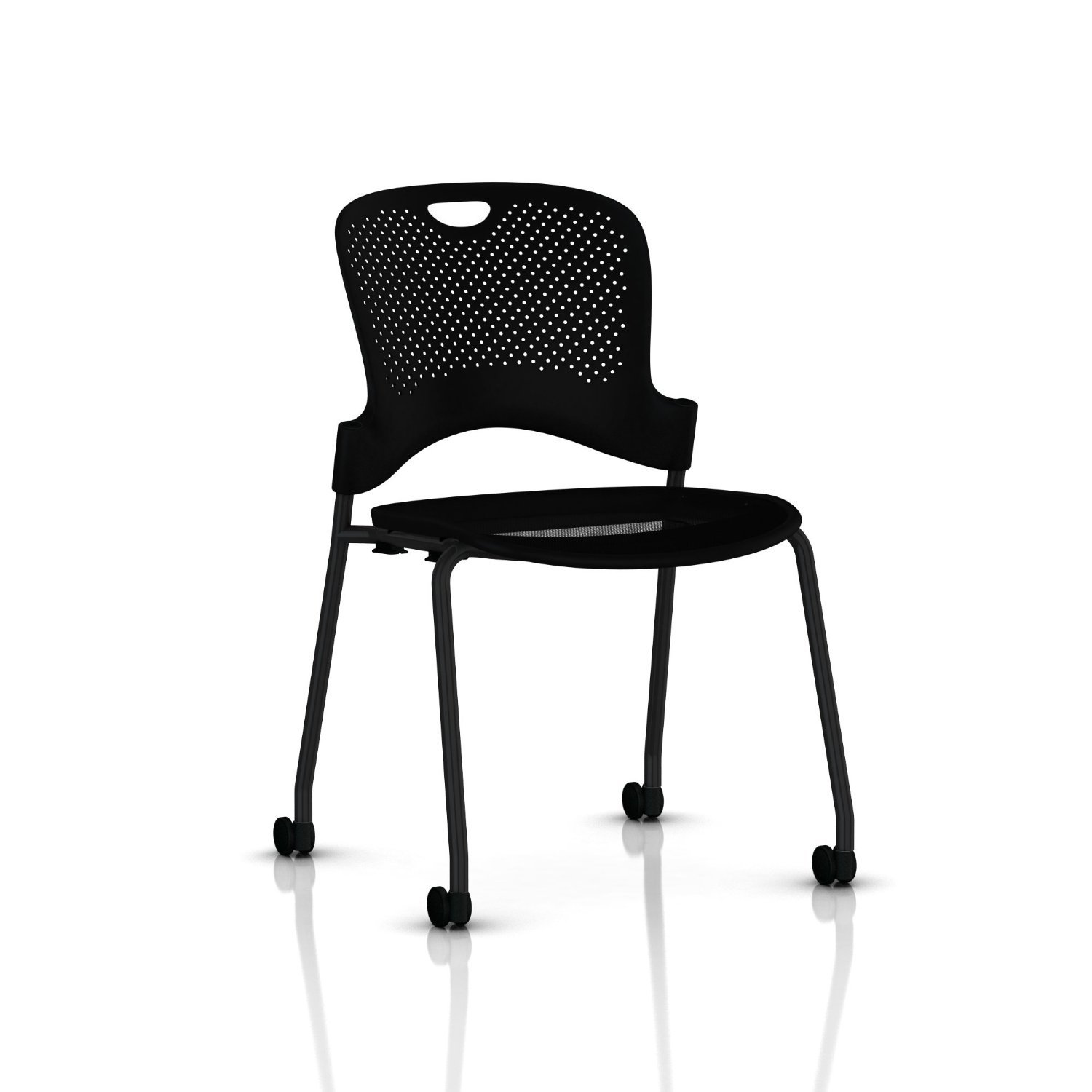 Amazon Stackable Caper Side Chair by Herman Miller Black