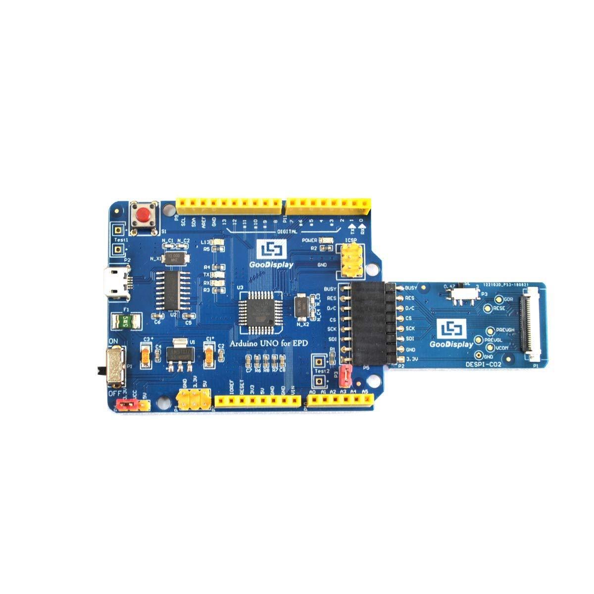 GooDisplay Arduino UNO for EPD Demo Kit Adapter USB Input Communication Development Board Driver HAT for E-Ink Module DEArduino