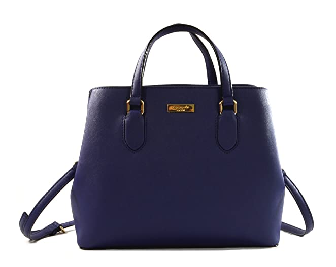 Kate Spade New York Laurel Way Evangelie Saffiano Leather Shoulder Bag Satchel (Oceanic Blue)