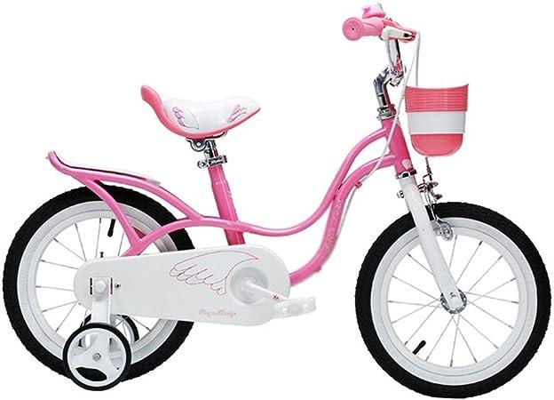 Bicicletas Bicicletas para niños Niña de 2-8 años en Bicicleta para niños con una Altura de 85-150 cm (Color: Rosa, Tamaño: 14 Pulgadas): Amazon.es: Hogar