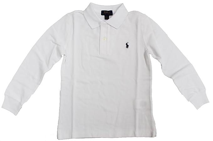 f444eac4c94e Amazon.com  RALPH LAUREN Baby Boy Cotton Mesh Long Sleeve Polo Shirt ...