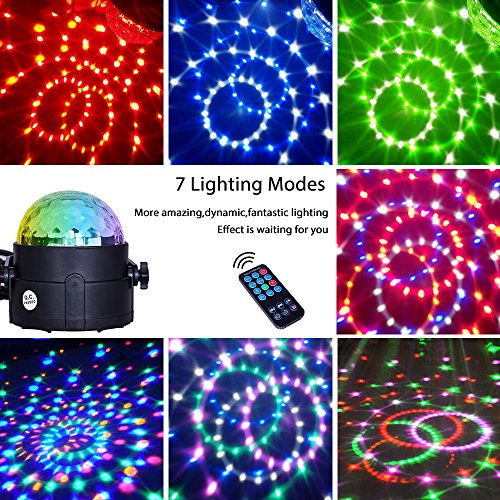 Comwinn disco lights sound activated strobe light disco ball dj comwinn disco lights sound activated strobe light disco ball dj lights party lights xmas 7colors disco light disco party lights show for christmas parties aloadofball Images