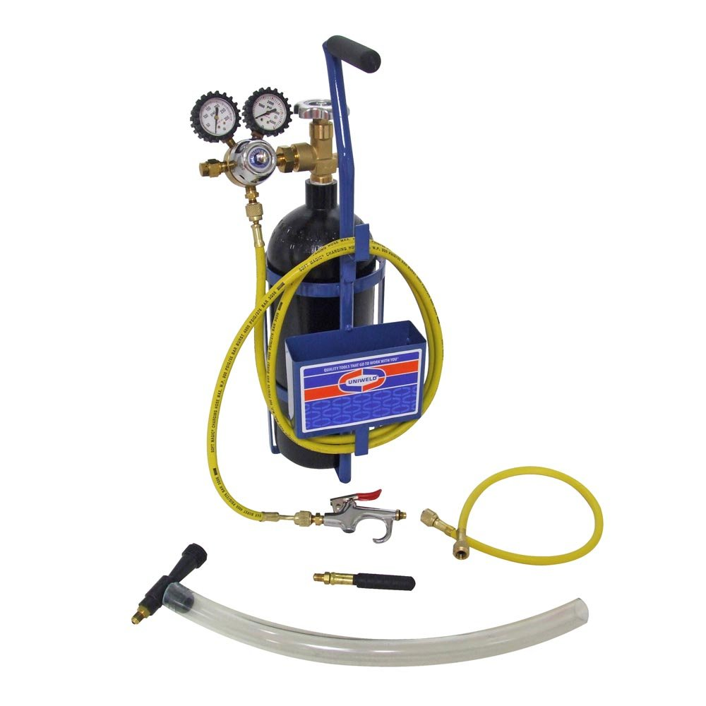 Uniweld 40001 Nitrogen Sludge Sucker and Blaster Kit with Metal Carrying Stand for 20 Cubic Feet Nitrogen Tank