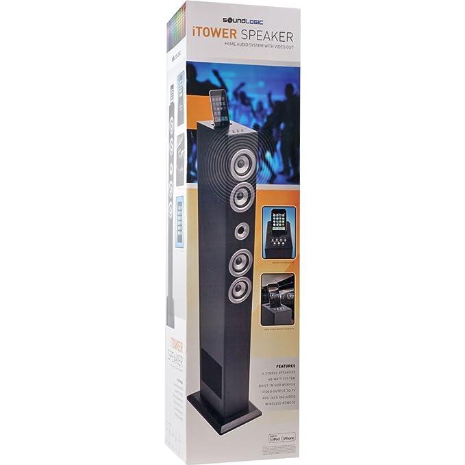 Amazon com: Sound Logic 72-4798 iTower Speaker for iPhone