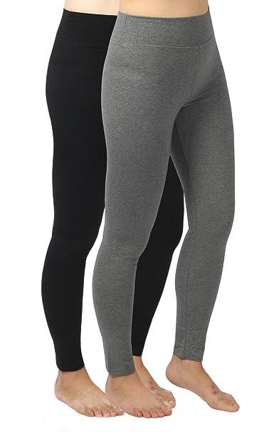 e93e960e1cfad 4How 2Pack Women s Casual Pant Trainning Leggings Black +Grey ...