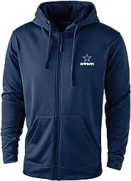 NFL Dallas Cowadult adult Trophy Polyester Tech Fleece Full Zip Hoodie, Large, Navy