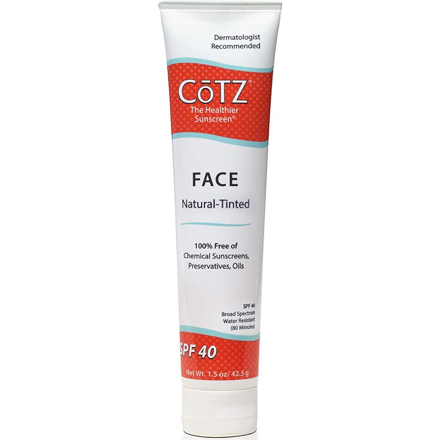 Cotz Face Natural Skin Tone SPF 40, 1.5 Ounce (Set of 2)