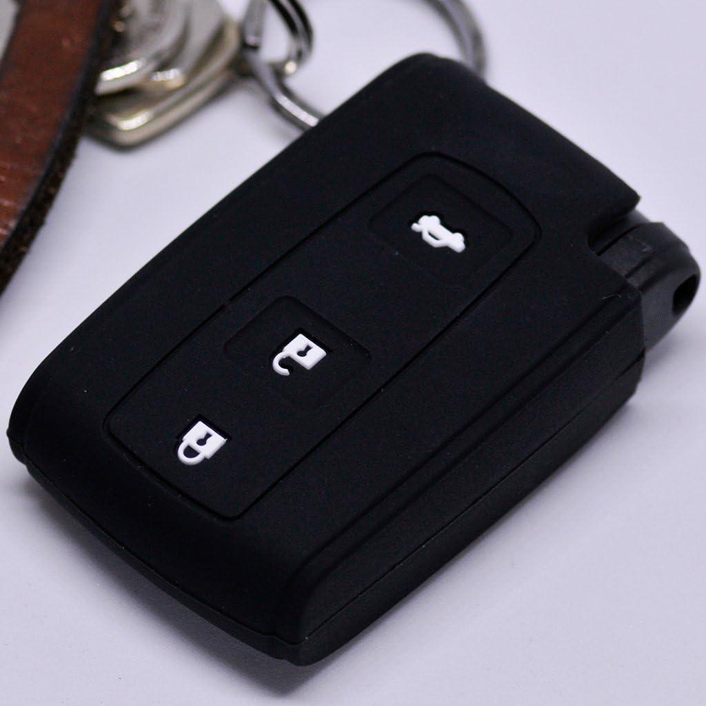 Soft Case Schutz Hülle Auto Schlüssel Smartkey Für Toyota Prius Corolla Verso Farbe Schwarz
