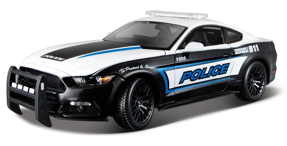Maisto 2015 Ford Mustang GT 36203, Police, 1:18 Die Cast