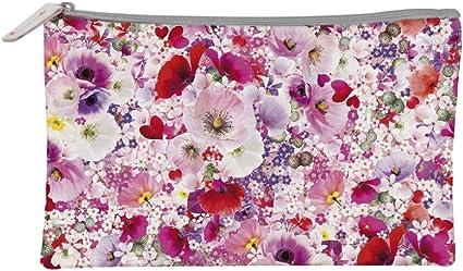 Estuche plano 22 x 14 cm – Chacha Tropical rosa flores: Amazon.es: Oficina y papelería
