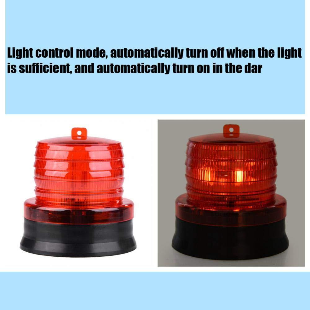 Fdit Voyant Davertissement /à LED Gyrophare Voyant Alarme Lumi/ère Lampe Clignotante Solaire Lampe de Secours de Voiture Automatique Rouge