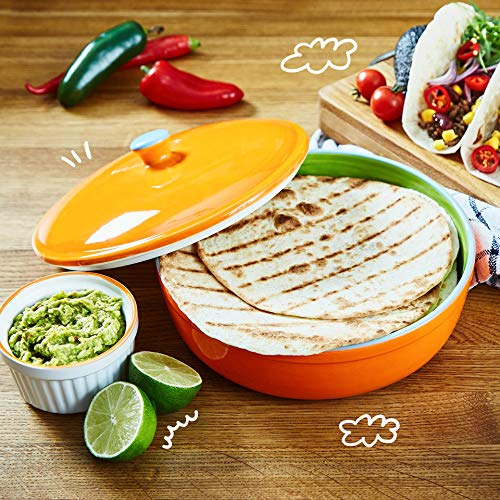 Uno Casa Ceramic Tortilla Warmer - Holds up to 15 Pcs - Measures at 8.5 Inch by Uno Casa (Image #4)