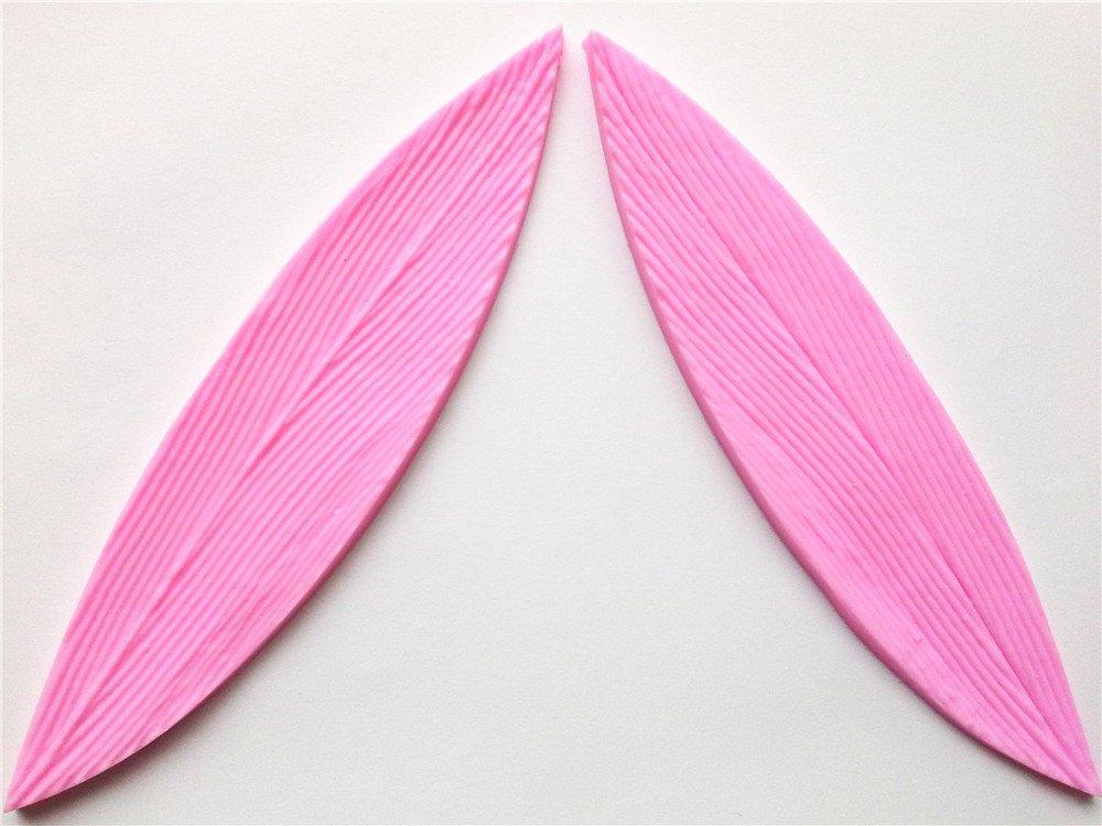Wocuz W0025 silicona hojas de bambú, diseño de pétalo Sugar Craft ...