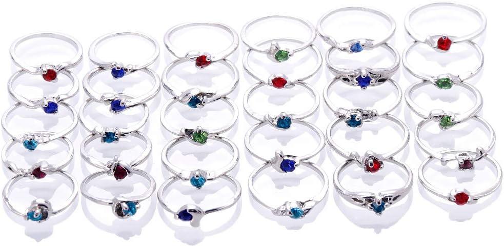 ZHUOTOP Juego de anillos, para mujer, al por mayor, 30 unidades, atractivos, sin carcasa