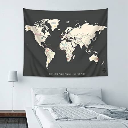 Wondertify old world map vintage world map 18 tapestry wall hanging wondertify old world map vintage world map 18 tapestry wall hanging bedspread dorm tapestry decorative wall gumiabroncs Images