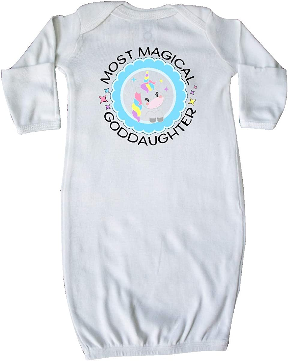 Cute Unicorn Toddler Long Sleeve T-Shirt inktastic Most Magical Goddaughter